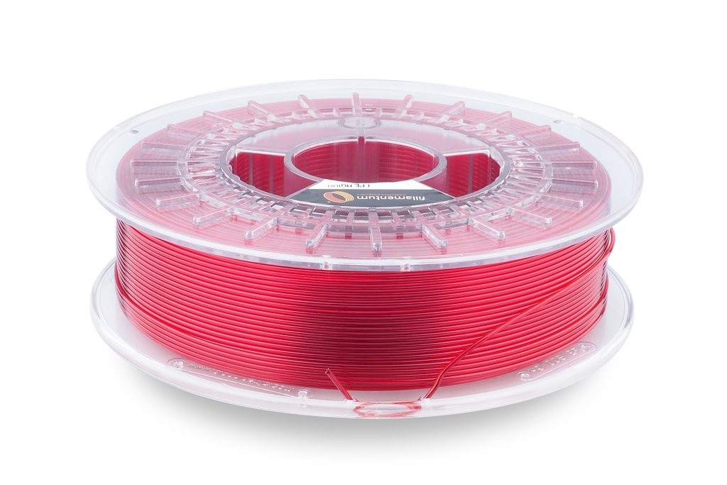 Fillamentum CPE HG100 1.75mm  Red Hood Transparent