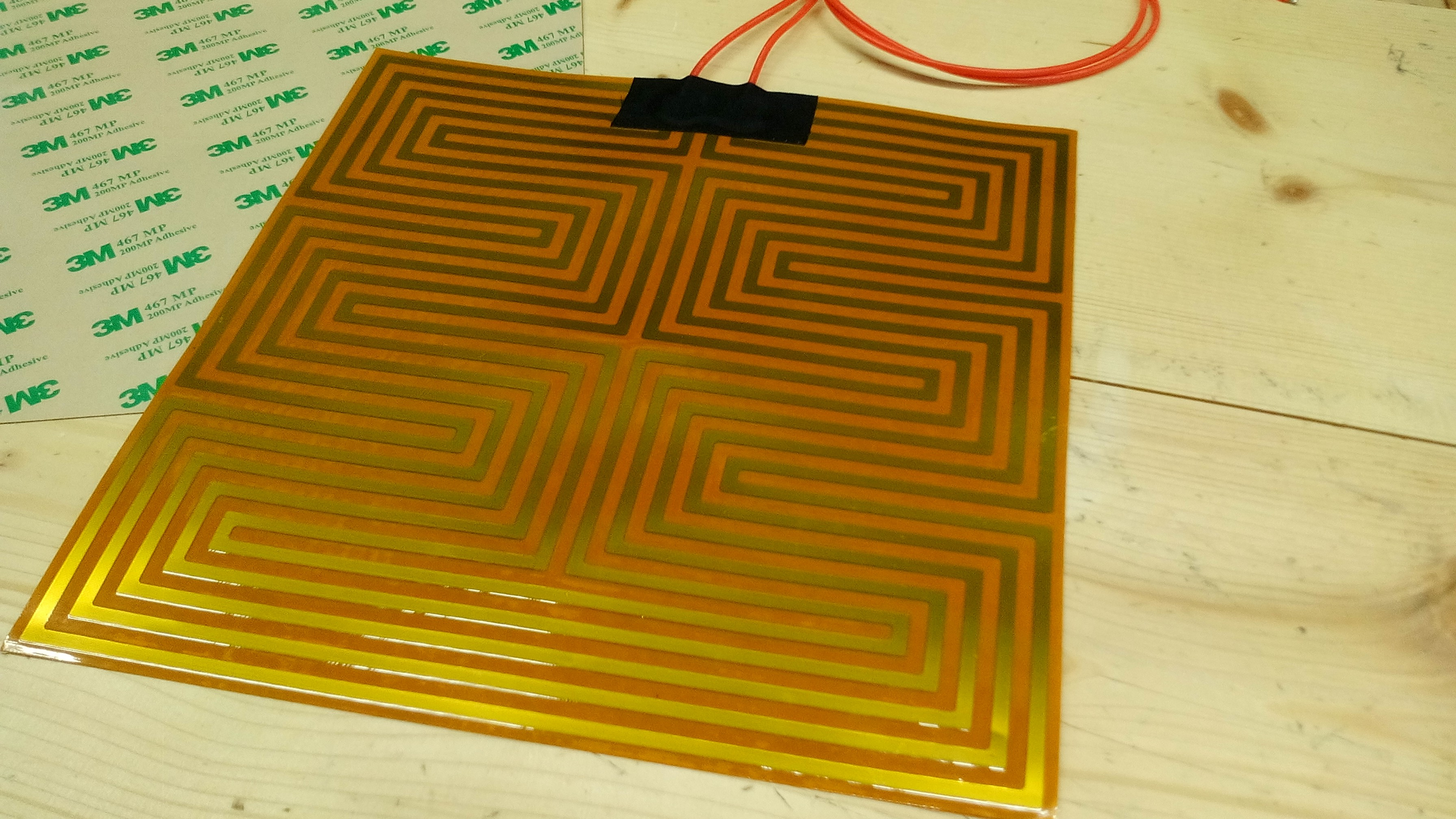 Kapton Flexible heater 23cm x 23cm